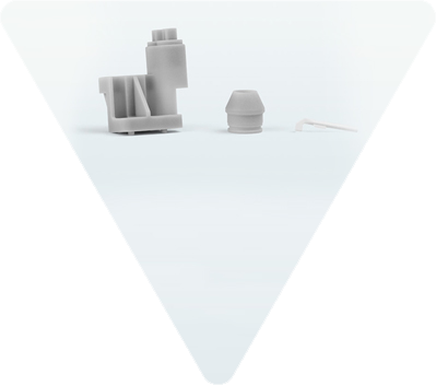 Multimaterial-Bauteile mit gummielastischen und harten Bereichen