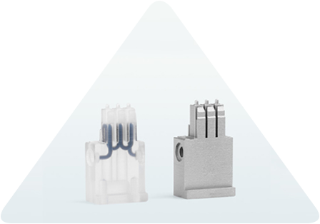3D-printed aluminum, copper and steel inserts for injection molding tools