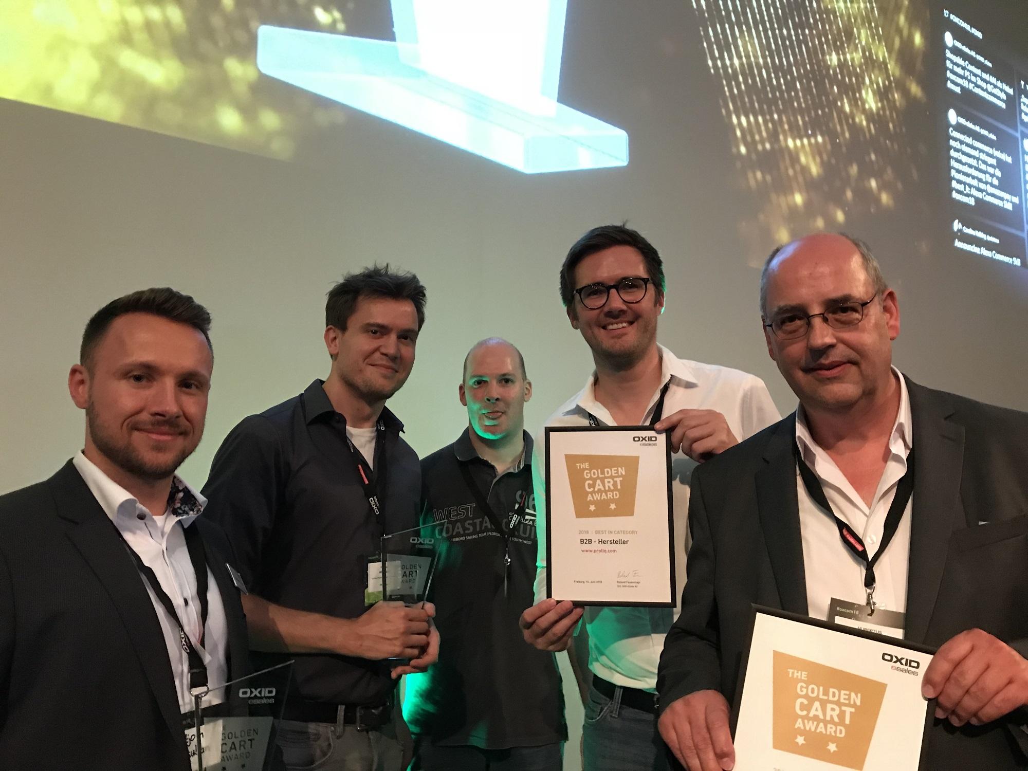 Golden Cart Award für Dixeno und den PROTIQ Marketplace